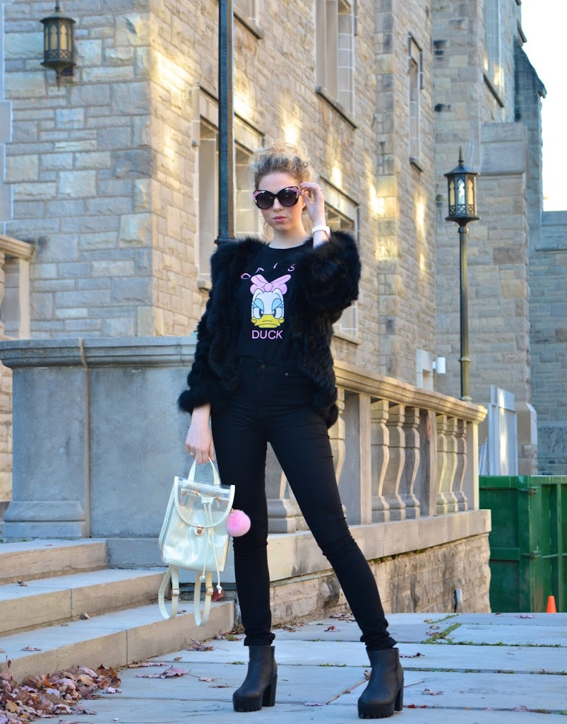 Annie Robinson, F&B Inc, Fashion & Beauty Inc, FABINCBLOG, Daisy Duck, Glam, Glam Style, Glamorous Outfit, Fur, Girly, Pretty Fashion, Girly Looks, Luxe Street Style, Beautiful Outfit