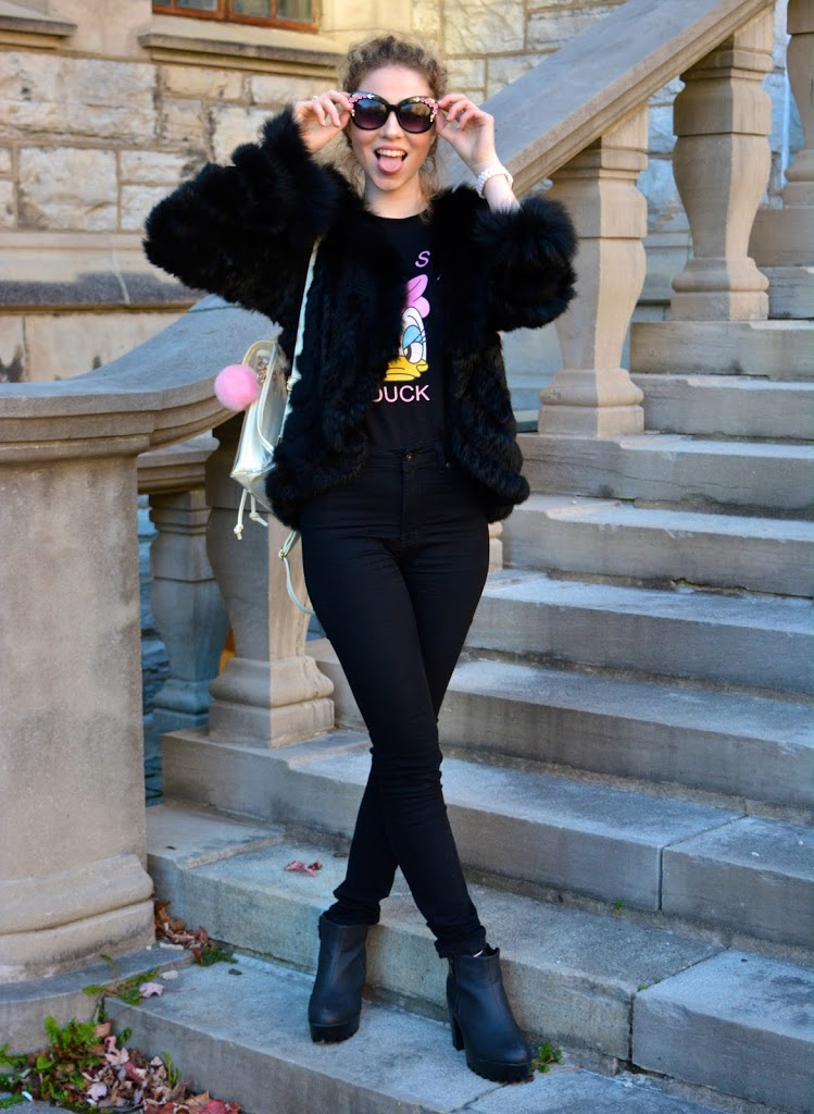 Annie Robinson, F&B Inc, Fashion & Beauty Inc, Daisy Duck, Glam, Glam Style, Glamorous Outfit, Fur, Girly, Pretty Fashion, Girly Looks, Luxe Street Style, Beautiful Outfit, Teen Girl Street Style