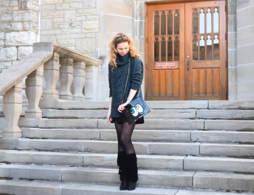 Annie Robinson, Street Style, FABINCBLOG, College Style, College Fashionista, University Fashion, Campus Cutie, Campus Fashion, Joe Fresh, Cozy Cute