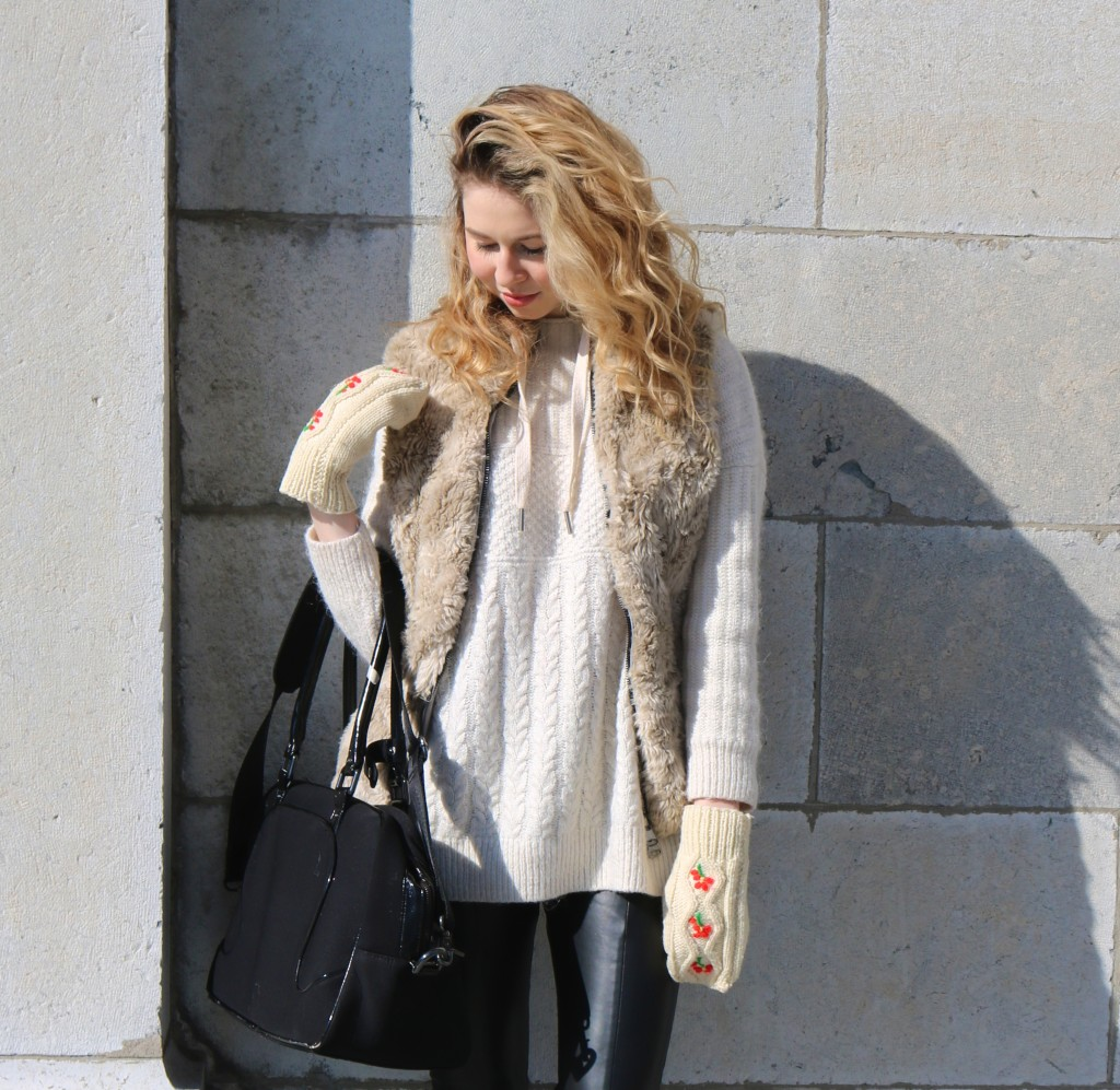 street style, nordic style, faux fur, leather pants, outfit of the day, fabincblog