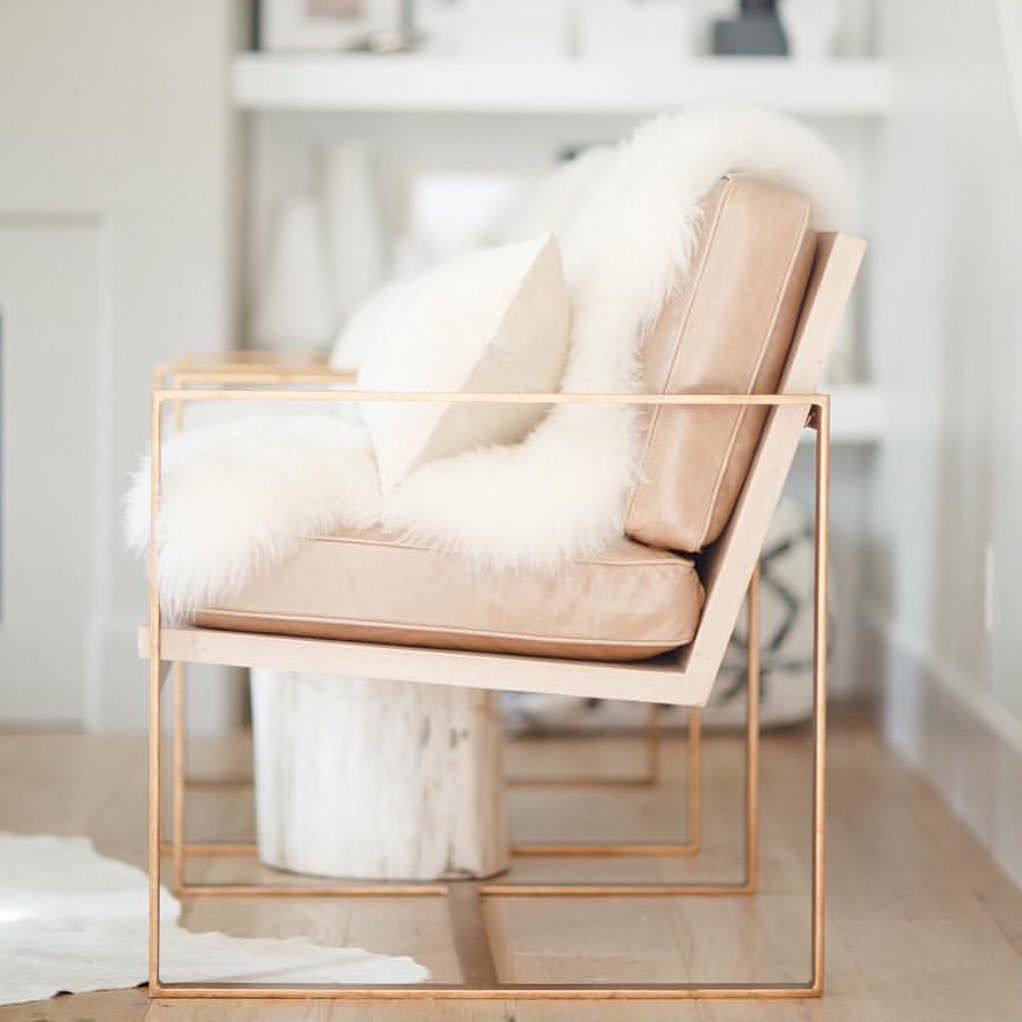 rose gold chair, rose gold interior design