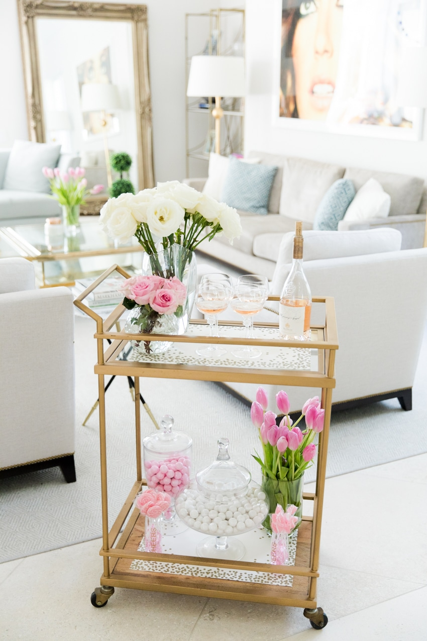 6 Ideas For How To Style A Bar Cart Fashion Beauty Inc